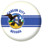 Carson City (Nevada) Flag 58mm Mirror Keyring